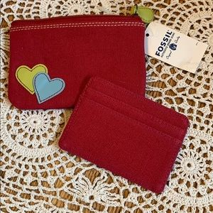🎁🆕 NWT Fossil 🎉HP🎉 card case/skim wallet